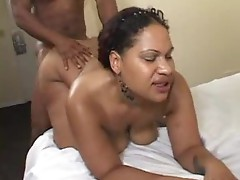 Dwayne Cummings was relaxing on the hotel couch when Mia Moore came inside and started giving him the blowjob.  This BBBW's head game is amazing