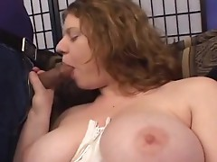 Huge hooter MILF get her hairy pussy banged