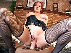 Perfect Redhead MILF Gets Her Snatch Fucked By Huge Penise