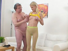 Teacher`s tongue feels wonderful onto nipps