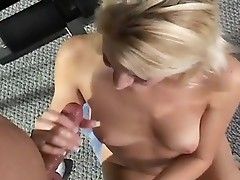 Sexy babe strokes python inside the gym
