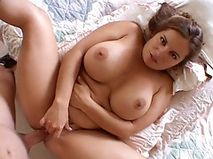 Hot Mommy Gives Imbecile Blowjob &  Gets Fucked Madly