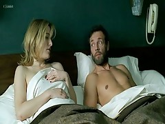 ValeRia Bruni Tedeschi in nature's garb on bed wHile a guy has sex with her doggy position,despite Valeria not being interested.from 5x2.