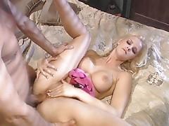 Blond slut seducing and sucking