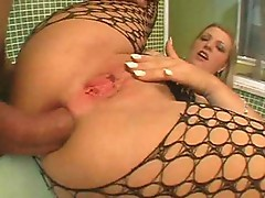 Babe gets fucked in her ass