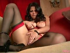 Buxom Latina getting hot