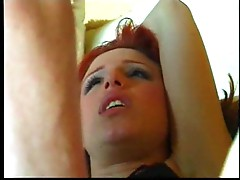 A flexible young redhead