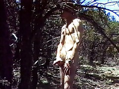 Horny gay cowboy in free nature
