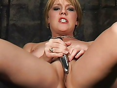 Missy Monroe plays with her wet pussy