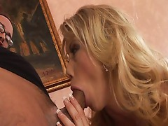 Horny blonde is hungry for a creampie