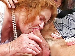 Granny sucks and gets fucked