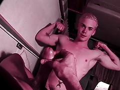 Blond gayboy sucking