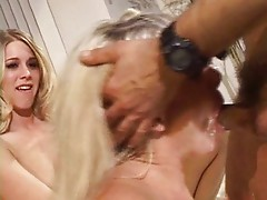 Blond moron bitches fucking old guy