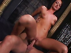 Melissa plays with her big friend