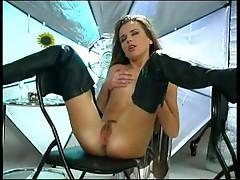 Girl in sexy overknees