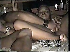 Sextourist doing ebony girl with dildo