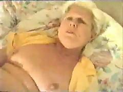 Granny fucks with chubby guy