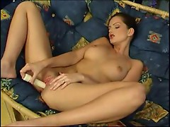 Babe lonely on couch