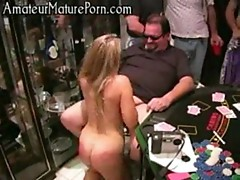 Amateur strippoker groupsex party