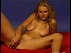 Blonde undresses and gets fingerfucked 2