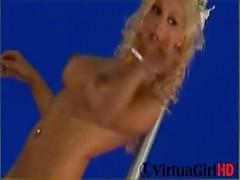 Blond Karina dances