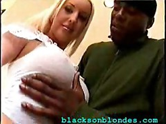Blonde and black guy
