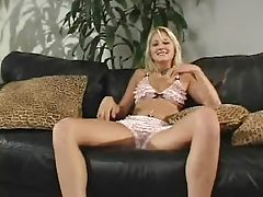 Stacy Stroking Cock