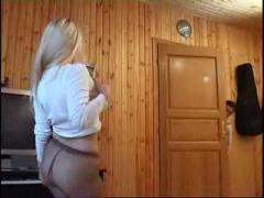 Russian Busty Blonde In The Sex Room