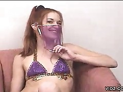 Petite redhead wants to be a belly dancer