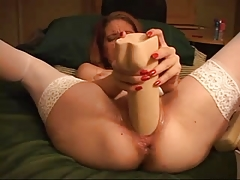 NASTY GIRL AND HER DILDO FILLED PUSSY