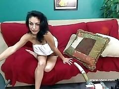 Busty pornstar Persia Pele sex machine webcam