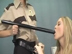Blonde pornstar goes down and dirty in woman jail