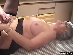Wild nasty granny devours a raging angry cock