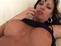 Busty brunette Krista Keslo gets nailed by big shaft