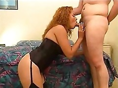 Buxom lingerie redhead shagging