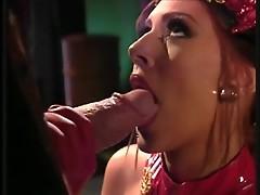 Horny bull with three cocks nails cabaret actress