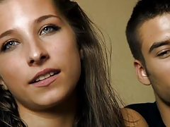 18 years old Cristina and Diego - young couple fuck for money
