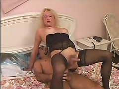 Beautiful sexy t-girl gets fucked by huge rod