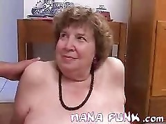 Lusty Grandma Sucks Cock
