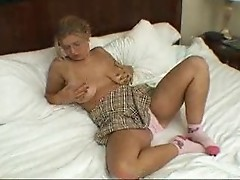 UK girl pink panties  FM14