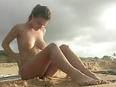 Andie Valentino naked on the beach in Hawaii  4