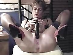 Great masturbation of my mature slut wife