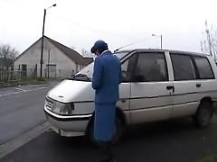 French brunette police officer