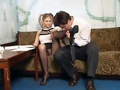 russian fuck and cum on pantyhose