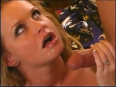 Squirting milf is gobbling knob and swallows jizz
