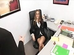 Bathroom: the best place to give oral to boss