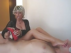 German Lady B masturbates in Berlin hotelroom (filmed by his wife)