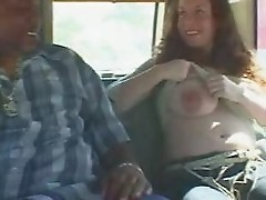 Pregnant Teen fucked by Backseat Banger