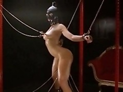 Slave girl Kinky Belladonna gets ass toy fucked during very dirty BDSM session