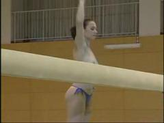 Little Nude Gymnast Girl